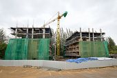picture of construction crane  - large crane in construction site - JPG
