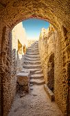 foto of king  - Ancient entrance to one of tombs of Paphos necropolis known as Tombs of the Kings - JPG