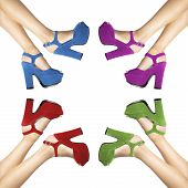 image of shoes colorful  - composition of woman - JPG