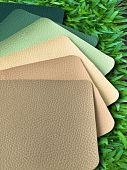 Earth Tone Leatherette Color Sample poster