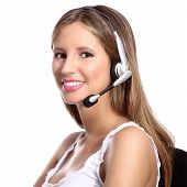 picture of telephone operator  - office telephone operator - JPG
