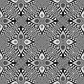 picture of distort  - Design seamless monochrome cone illusion background - JPG
