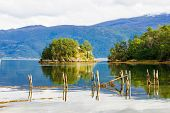 pic of fjord  - Fjord and landscape View from road 55 Norway - JPG