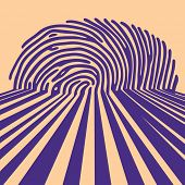 stock photo of fingerprint  - abstract fingerprint shadow background - JPG