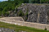 foto of dam  - A concrete dam spillway in southern Vermont - JPG