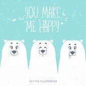 Постер, плакат: bears white