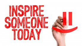 picture of feeling better  - Hand with marker writing the word Inspire Someone Today - JPG