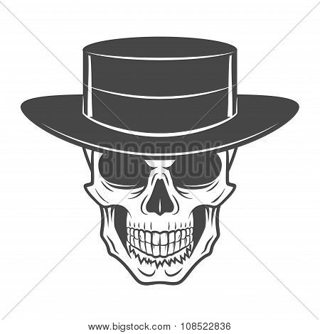 Wild west skull with hat