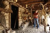 The Man In The Ancient Indian House