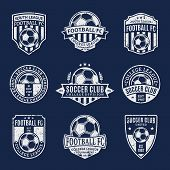 Постер, плакат: Set Of Soccer Football Club Labels