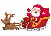 Cute little Santa sleight