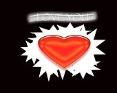 Love You Graphic Art Illustration 3D Romance Background