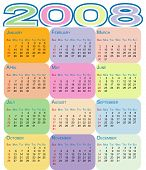 Colorful Calendar 2008
