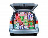 Minivan Full Of Christmas Presents