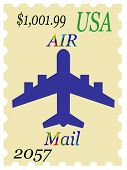 Inflation Rates Mock Us Stamp Air Mail