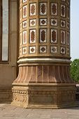 Decorative Etching On Pillar