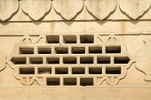 Window Grill In Stone Wall