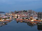 Agios Nicolaos - Crete - Greece Harbor From The Lake