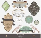 scrapbook and wedding invitation card label series