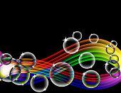 Rainbow Bubble Wave