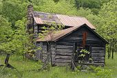Old Log Cabin In Rural West Virginia