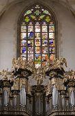 Saint Barbara church - Organ Loft - stained glass