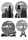Famous Cities And Places - Vector