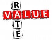 3D Value Rate Crossword
