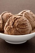 stock photo of ijs  - real gourmet chocolate ice cream not made with mashed potatoes or shortening and meets all the regulations regarding using real dairy products to advertise dairy - JPG