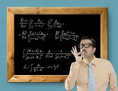 mathematical formula genius nerd geek easy resolve positive gesture
