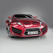 Hybrid sports car. Non-branded concept car.