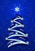 Stylized Christmas Tree Illustation - Blue