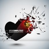 foto of broken hearted  - Vector Heart Crushing - JPG