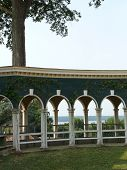 foto of slave-house  - Potomac view from the George Washington estate at Mount Vernon - JPG