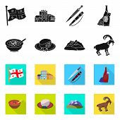 Vector Design Of Culture And Sightseeing Logo. Set Of Culture And Originality Stock Symbol For Web. poster