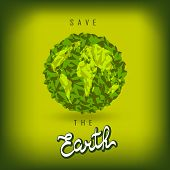 Earth Day Consept. Earth Day  Illustration With Hand Drawn Word, Planet. Save The Earth. Lettering poster