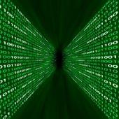 Corridor Of Green Binary Code