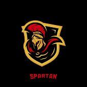 Spartan Logo Vector Template. Modern Logo Esport Team. Emblem Logo poster