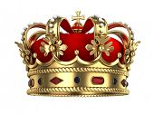stock photo of monarch  - Royal Gold Crown - JPG