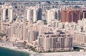 Vista na casa de apartamentos em artificial Ilha Palm Jumeirah