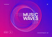 Abstract Music. Curvy Concert Brochure Layout. Dynamic Fluid Shape And Line. Abstract Music Flyer. T poster
