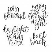 Modern Calligraphy Ink Of Word Daylight . Stylish Typography Inscription With Handwritten Calligraph poster