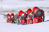 Unused snow cannons