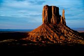 The Late Afternoon In Monument Valley, Az. poster