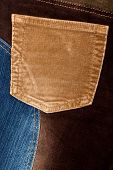 Corduroy And Jeans Fabric Textures