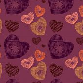 Original Seamless Background With Hearts