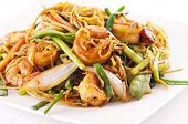 foto of lo mein  - chinese stir fried noodles - JPG