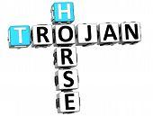 Texto de Crucigrama de Virus troyano 3D