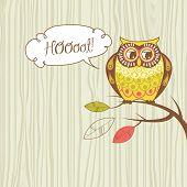Cute Vector Owl.