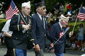 NEW YORK - MAY 29:  Veterans participate in the Little Neck/Douglaston Memorial Day Parade May 29, 2